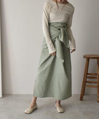 bottoms-04018 MADE IN JAPAN COTTON LINEN 2WAY MAXI SKIRT
