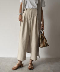 bottoms-02007 LINEN  TAPERED PANTS