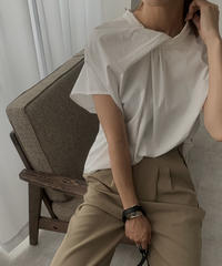 tops-02172 FRONT KNOT SHIRT
