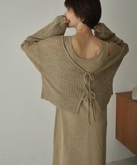 knit-09001 OPENWORK  2WAY KNIT  CARDIGAN