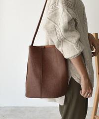 bag2-02471 WRINKLE PROCESSING SHOULDER BUCKET BAG