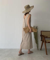 onepiece-04016 MADE IN JAPAN COTTON JERSEY 2WAY SLEEVELESS DRESS