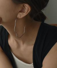 pierce2-02428 NUANCE CURVE BIG HOOP EARRINGS