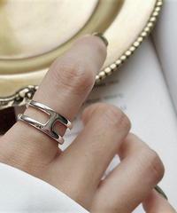 ring2-02065 STERLING SILVER 925  CENTER BAR RING
