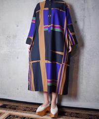 Modern Art Mao Collar Dress