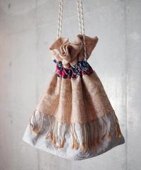 Vintage Fabric Patchwork Remake 巾着4