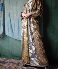 Arabesque Woven Rayon Hoodie Gown