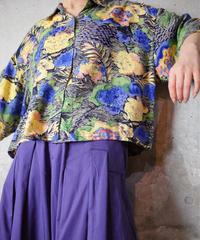 Bijou × Flower Art Rayon Shirt