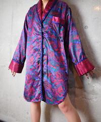 Paisley Satin Long Pajama Shirt