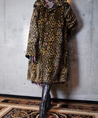Leopard Fur / Chocolate Brown Nylon Reversible Coat
