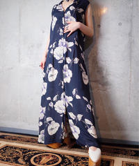 Beautiful Oriental Flower Rayon Dress