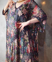 Beautiful Sheer Rayon Primitive Dress Front Open