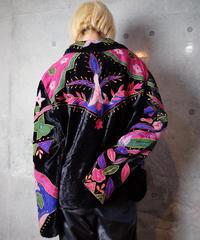 Crazy Psychedelic Velvet Shirt Jacket