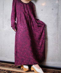 Jacquard Paisley Front Open Dress