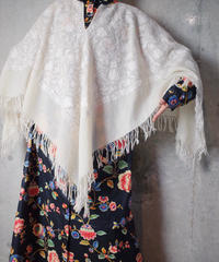 Embroidery All White Poncho
