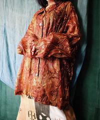 Embroidered Silk See Through Shirt