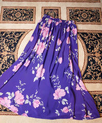 Purple Rayon Flower Skirt