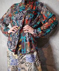 Exotic Sheer Silk China Shirt