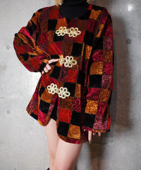 Velvet Arabesque Brock Pattern Jacket Remake China Buttons
