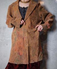Decay Beauty Pattern Faux Leather Long Jacket