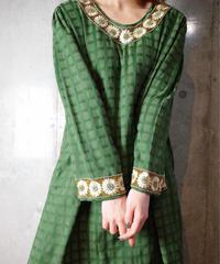 Bijou Embroidery Moss Green Dress