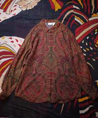 Herringbone Rayon Arabesque Shirt