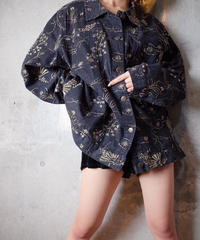 Oriental Embroidery Denim Jacket