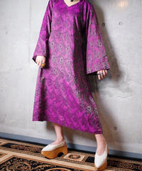Royal Purple Jacquard Dress