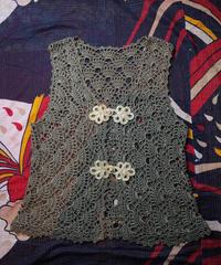 Crochet Lace China Button Vest