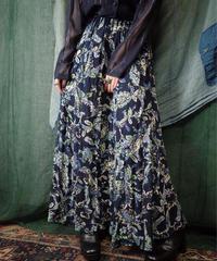 Sheer Rayon Paisley Patchwork Skirt