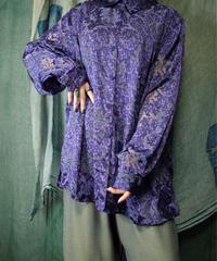 See Through Sleeves Arabesque Shirt