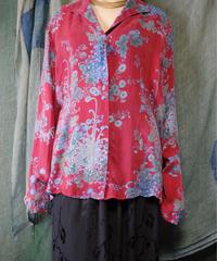 Oriental Flower Rayon Shirt