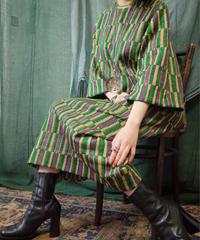 "Odd Stripe Knit Dress from 1970s ""ISRAEL"" vintage"