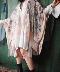 Arabesque Velvet See Through Fringe Cape
