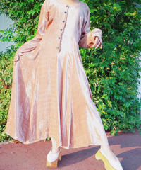 Nudie Pink Beige Velvet Dress