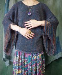 Fringe Sleeves Summer Knit