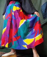 Color Art Wrap Skirt