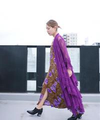Purple Full Lace Drape Gown