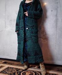 Wavey Geometric Knit Gown Coat