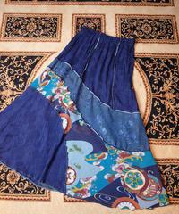 """""""和柄"""" Rayon Switch Skirt"""