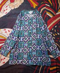 Modern Geometric Silk Long Cardigan