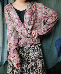 Oriental Arabesque Rayon Double Jacket