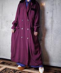 Luster Purple Rayon Dress/Long Jacket