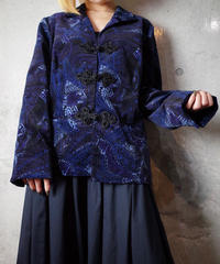 Remake China Button Paisley Velvet Jacket