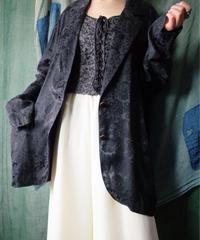 Black Jacquard Flower Jacket