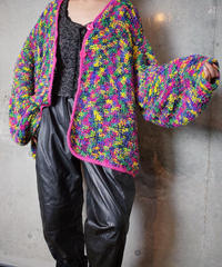 Crazy Color Art Knit Blouson