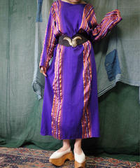 Jacquard Stripe Purple Dress