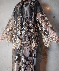 Art Nouveau Embroidery Lace Blouse