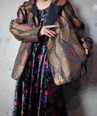 Jacquard Leaf Half Length Coat