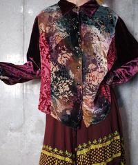 Aurora Arabesque Switch Velvet × Sheer Shirt